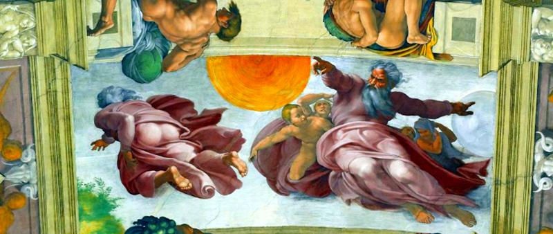 Resultado de imagen de capilla sixtina creación del sol y la luna